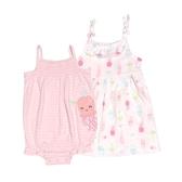 Carter s卡特 細肩帶無袖洋裝+兔裝+內褲 三件組 粉水母 | 女寶寶套裝(嬰幼兒/兒童/小孩)