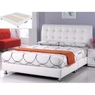 皮床 布床架 SB-586-3 雪莉5尺白皮雙人床(不含床墊及床上用品)【大眾家居舘】