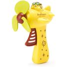 促銷優惠 Sanrio 飛機造型按壓式手動風扇 布丁狗 飛行員 黃