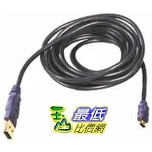 [美國直購] Belkin F3U138-10-GLD  USB A 5pin Mini B Device 24/28 Awg Dstp Gold - 10ft $741