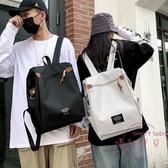 防盜包 簡約大容量防盜書包雙肩包男15.6寸電腦背包ins工裝書包女【快速出貨】