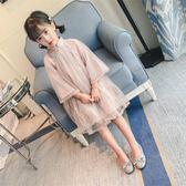 女童連衣裙2018春裝新款童裝洋氣春秋旗袍紗裙兒童春夏季公主裙子