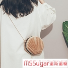 今年流行創意貝殼小包包2020新款韓國可愛學生少女斜背錬條包