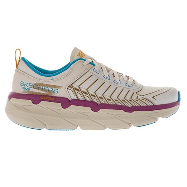 SKECHERS 女慢跑系列 輕便靈敏的中底鉸接式中底抗撕裂網布鞋面 128133TPMT 奶茶紫