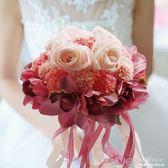 結婚用品新娘手捧花仿真韓式婚禮花束婚禮影樓道具婚紗拍照手捧花  深藏blue