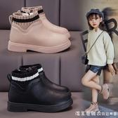 女童短靴皮鞋2020年新款秋季靴子兒童鞋洋氣加絨大棉馬丁靴秋冬款 美眉新品