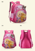 正版Disney 迪士尼芭比公主 小學生書包 健康護脊後背包桃紅色款/單售