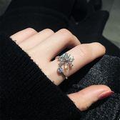 戒指 雪花水晶日韓潮人大氣個性學生極簡食指環冷淡風女