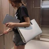 時尚商務韓版布手提檔包公文包女辦公事郵差職業防水電腦LX聖誕交換禮物