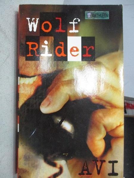 【書寶二手書T5/原文小說_MOO】Wolf Rider-A Tale of Terror_Avi