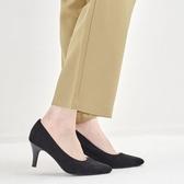 【ORiental TRaffic】舒適百搭尖楦高跟鞋-百搭黑