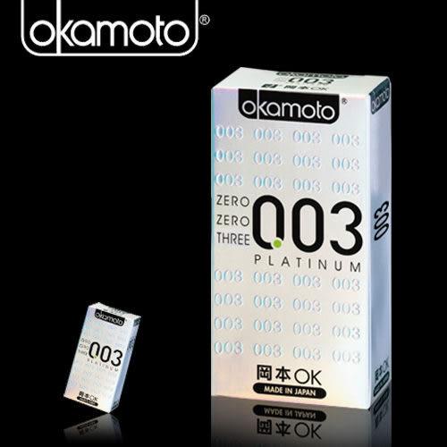 情趣用品 保險套世界 推薦 Okamoto岡本003-PLATINUM 極薄保險套(6入裝)白金保險套