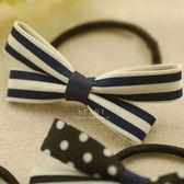 黑白點子蝴蝶結髮圈 不挑色 兒童髮飾 兒童髮圈 蝴蝶髮圈