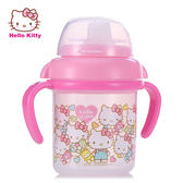 Hello Kitty 寶寶第二/三階段喝水訓練杯 矽膠吸管 安全無毒 雙耳設計好抓握【成長天地】