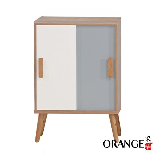 【采桔家居】莫古斯  現代2尺推門展示櫃/收納櫃