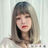 MG 假髮-隱形無痕中長鎖骨假髮