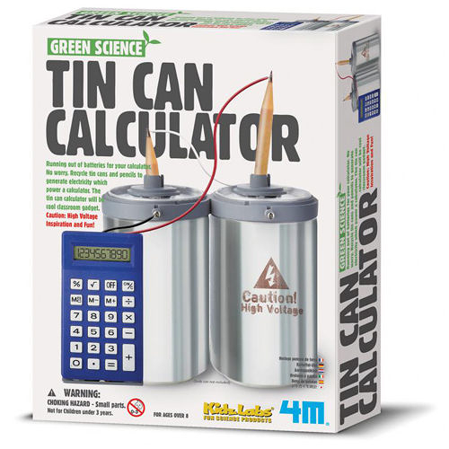 《4M科學探索》Tin Can Calculator 環保計算機 ╭★ JOYBUS玩具百貨