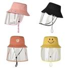 防飛沫漁夫帽女可拆防曬防塵大頭圍韓版成人兒童親子隔離防護帽子 果果輕時尚