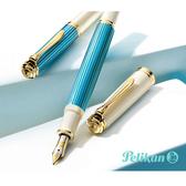 PELIKAN®600百利金2018限量版土耳其藍14K鋼筆*附贈百利金原廠墨水4001土耳其藍*1瓶
