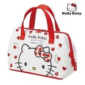 【SAS】日本限定 三麗鷗 HELLO KITTY 凱蒂貓 愛心版 保冷餐袋 / 收納袋 / 便當袋 / 保冷手提袋