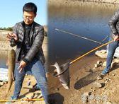 抄網竿釣魚抄撈網超輕硬伸縮捕魚網兜伸縮桿竿抄網3米操網igo  蓓娜衣都