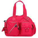 Kipling經典Basic雙口袋Defea肩側背兩用波士頓包(桃紅色)460108-123