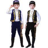 兒童表演服新疆少數民族表演服裝回族男童 LQ1597『科炫3C』
