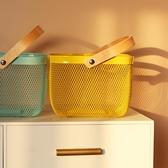 收納籃零食鐵藝小籃子置物筐玩具桌面雜物鐵框宜家用超大號收納筐 貝芙莉