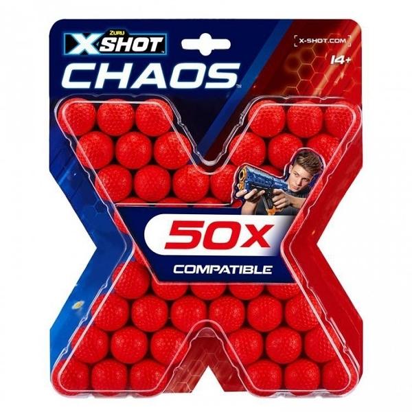《 X-SHOT 》X射手CHAOS-50入彈球補充包 / JOYBUS玩具百貨