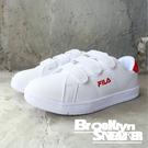 FILA 全白黏帶 紅色絨布 乳膠鞋墊 ...