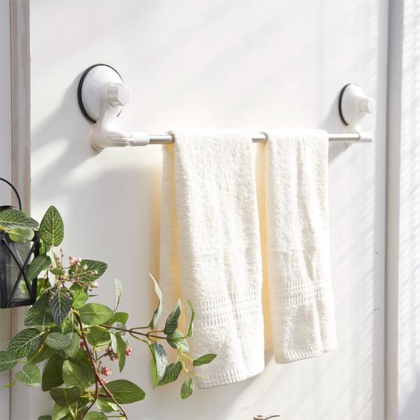 【H&R安室家】TACO無痕吸盤系列-不鏽鋼角落可用毛巾架-BRF18
