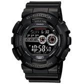 【台南 時代鐘錶 CASIO】卡西歐 G-SHOCK 宏崑公司貨 GD-100-1B 高亮LED強悍錶款