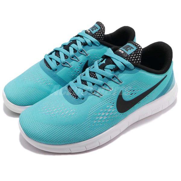 【六折特賣】Nike 慢跑鞋 Free RN GS Run 5.0 赤足 運動鞋 藍 黑 女鞋 大童鞋【PUMP306】 833993-400