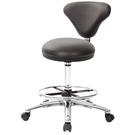 GXG 立體圓凳加椅背 吧檯椅(寬鋁腳+踏圈+防刮輪) 型號81T2 LU1XK