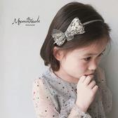 全館83折 MOMSMADE兒童發飾頭飾韓國進口亮片蝴蝶結發箍兒童頭箍女童發飾