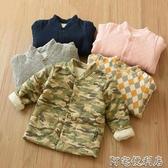 很好穿的兒童加厚純棉夾棉棉衣男童女童小童寶寶立領棉襖秋(快速出貨)