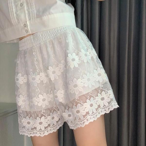安全褲 jk打底褲白色安全褲女防走光洛麗塔lolita寬鬆蓬蓬蕾絲可外穿短褲 非凡小鋪