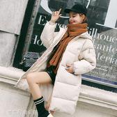 反季冬外套女新情侶ins棉襖韓版學生中長棉服加厚羽絨棉衣麵包服「夢露時尚女裝」