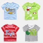新年鉅惠男童卡通短袖T恤2018夏裝夏季童裝兒童寶寶打底衫小童上衣女U5738 東京衣櫃