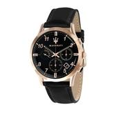 MASERATI 瑪莎拉蒂 RICORDO三眼日期計時腕錶42mm(R8871625004)
