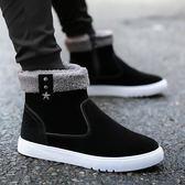 馬丁靴 韓版雪地靴男冬季保暖加絨男鞋潮流短靴男士馬丁靴棉鞋男棉靴子     非凡小鋪