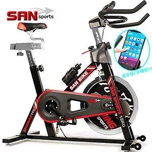 飛輪健身車│黑爵18KG室內腳踏車飛輪車公路車自行車訓練台運動健身器材美腿機SAN SPORTS