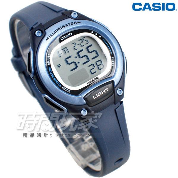 CASIO卡西歐 LW-203-2A 輕巧 10年電力 電子錶 運動錶 防水手錶 女錶 童錶 藍x灰 LW-203-2AVDF