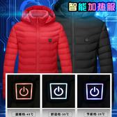 智能加熱服外套全身發熱棉服電加熱衣服冬季電熱棉衣男潮充電棉襖 城市科技DF