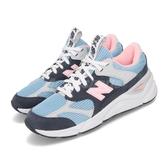 New Balance 慢跑鞋 NB X90 藍 粉紅 透氣網布 麂皮 全新鞋款 運動鞋 女鞋【ACS】 WSX90TLUB