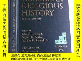 二手書博民逛書店Encyclopedia罕見of American Religious History (Vol.III P-Z)