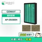 綠綠好日 一年份濾網組 抗菌濾芯 活性碳濾網 適用 COWAY AP-0509DH 清淨機 空氣清淨機