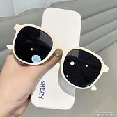 2021新款復古方形簡約大框墨鏡女網紅圓臉街拍顯瘦防紫外線太陽鏡 晶彩