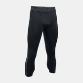 UA HG Supervent [1289581-001] 男 強力 伸縮型 緊身 七分褲 運動 訓練 舒適 透氣 黑