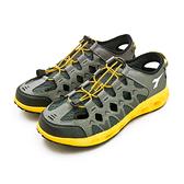 LIKA夢 DIADORA 迪亞多那 多功能排水戶外水陸運動涉水涼鞋 野趣探險系列 灰黑黃 7358 男
